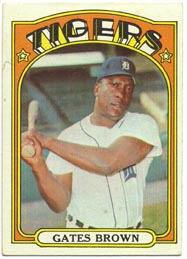 1972 Topps Baseball Cards      187     Gates Brown